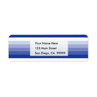 Gradient Square Royal Blue  to White Return Address Label