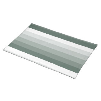 Gradient Square Sage Green  to White Cloth Placemat