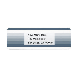 Gradient Square Slate Blue  to White Return Address Label