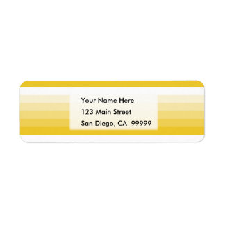 Gradient Square Yellow  to White Return Address Label