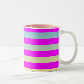 Gradient  striped  pattern. Two-Tone coffee mug