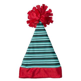 gradient stripes aqua santa hat