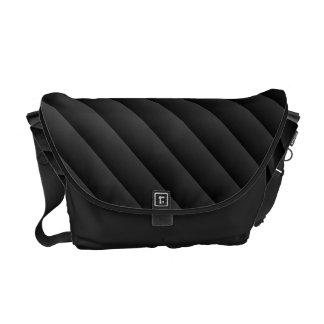 Gradient Stripes - Black & Gray Courier Bag