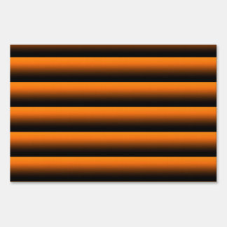gradient stripes fire lawn signs