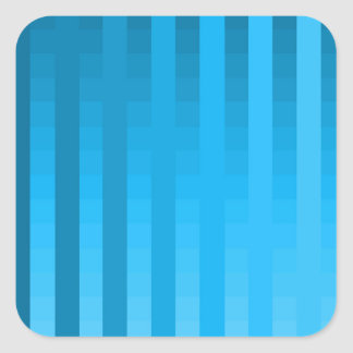Gradient Stripes / Tropical & Modern Look Square Sticker