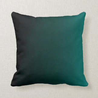 Gradient Teal Peacock Pillow