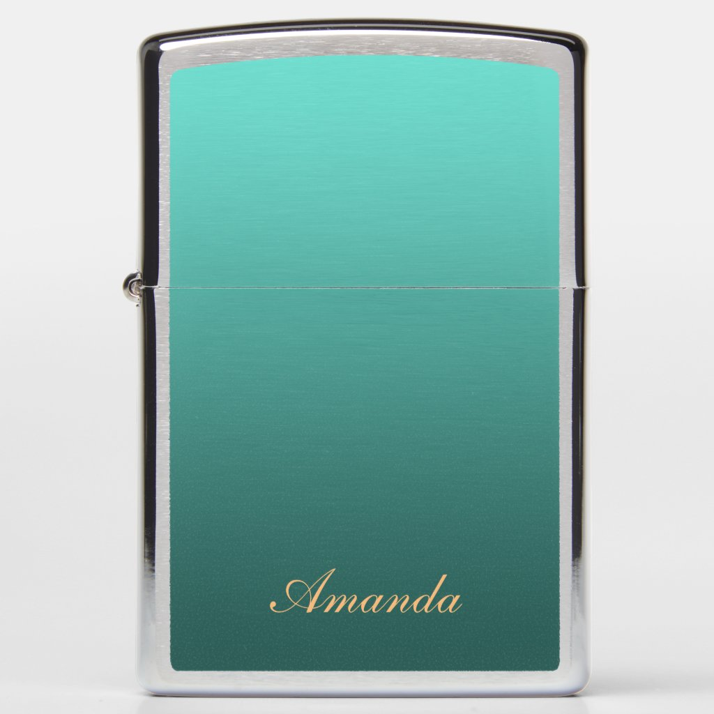 Gradient Teal with Custom Name