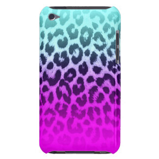 Gradient Tiffany Blue Pink Cheetah Leopard Print iPod Touch Covers