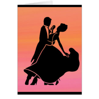 gradient tropical sunset  sunrise dancers card