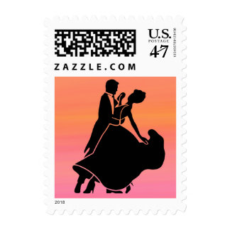 gradient tropical sunset  sunrise dancers postage