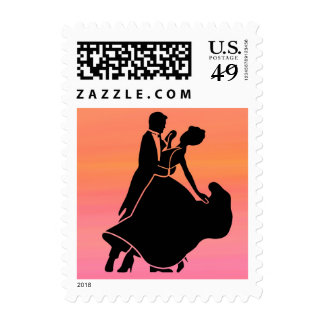 gradient tropical sunset  sunrise dancers postage stamps