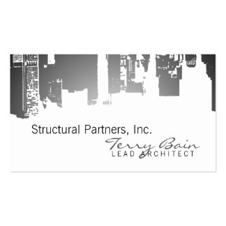 Gradient Upside Downtown Architect Business Card Template
