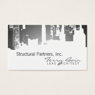 Gradient Upside Downtown Architect Business Card