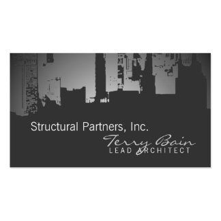 Gradient Upside Downtown Architect Double-Sided Standard Business Cards (Pack Of 100)