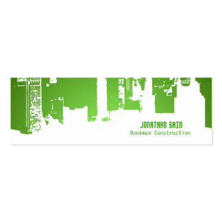 Gradient Upside Downtown HH Skinny Double-Sided Mini Business Cards (Pack Of 20)