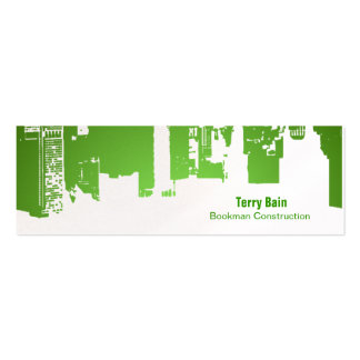 Gradient Upside Downtown Horizontal Skinny Business Card Templates