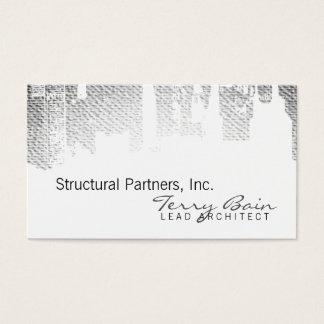 Gradient Upside Downtown Horizontal Skinny Business Card