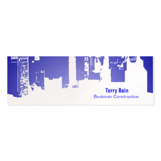 Gradient Upside Downtown Horizontal Skinny Double-Sided Mini Business Cards (Pack Of 20)