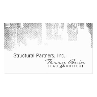 Gradient Upside Downtown Horizontal Skinny Double-Sided Standard Business Cards (Pack Of 100)