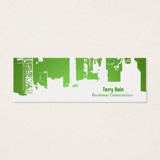Gradient Upside Downtown Horizontal Skinny Mini Business Card
