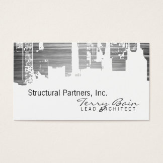Gradient Upside Downtown Horizontal Skinny Scratch Business Card