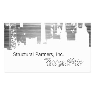 Gradient Upside Downtown Horizontal Skinny Scratch Double-Sided Standard Business Cards (Pack Of 100)