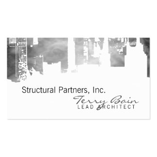 Gradient Upside Downtown Horizontal Skinny Smoke Double-Sided Standard Business Cards (Pack Of 100)