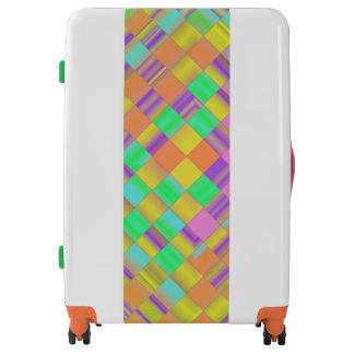 Gradient Weave Luggage