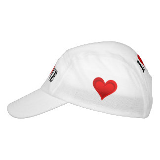 Gradients RED LOVE HEART + your backgr. & ideas Hat