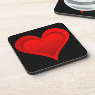 Gradients RED LOVE HEART + your text & ideas Coaster