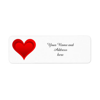 Gradients RED LOVE HEART + your text & ideas Label