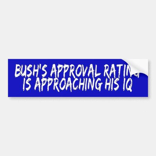 Grado de aprobación de Bush Etiqueta De Parachoque