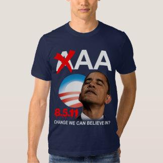 Grado de la solvencia de Obama - AA Camisas