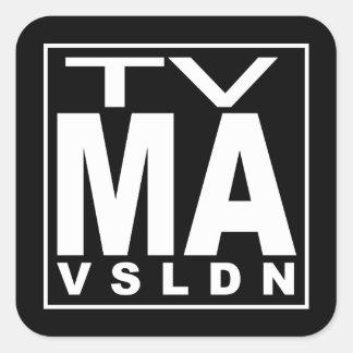 Grado de la TV mA Pegatina Cuadrada