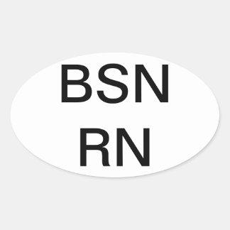 Grado de oficio de enfermera BSN, pegatina
