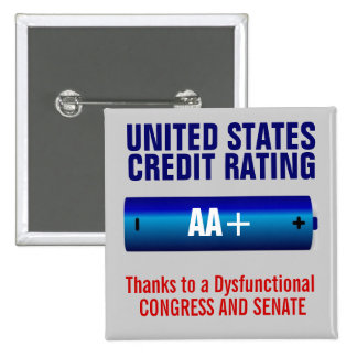 Grado de solvencia de Estados Unidos AA+ Pin Cuadrado