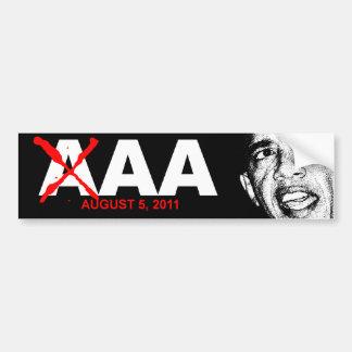 Grado de solvencia del AA de Obama Pegatina Para Auto
