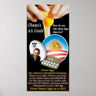 Grado del AA de Obama Posters