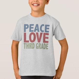 Grado del amor de la paz tercer remeras