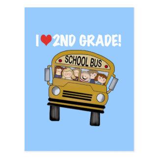 Grado del amor del autobús escolar 2do tarjeta postal