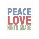 Grado del amor noveno de la paz postales