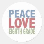 Grado del amor octavo de la paz etiquetas redondas