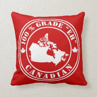 """Grado """"Eh"""" canadiense Cojín Decorativo"""