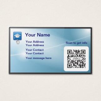 Grado en línea de la plantilla de la tarjeta de tarjetas de visita