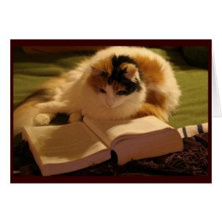 Grado felino Notecard Tarjeton