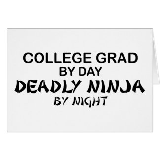 Grado Ninja mortal de la universidad por noche Tarjeta