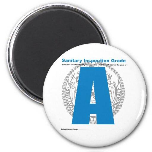 Grado sanitario de la inspección imán redondo 5 cm