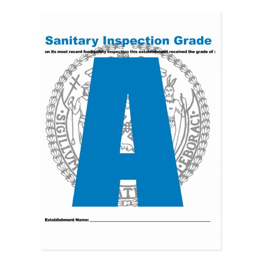 Grado sanitario de la inspección postales