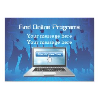 Grados en línea de la plantilla de la invitación