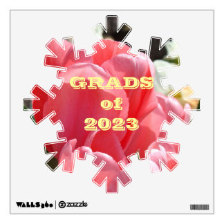 GRADS of Year wall decal Class of Pink Tulip
